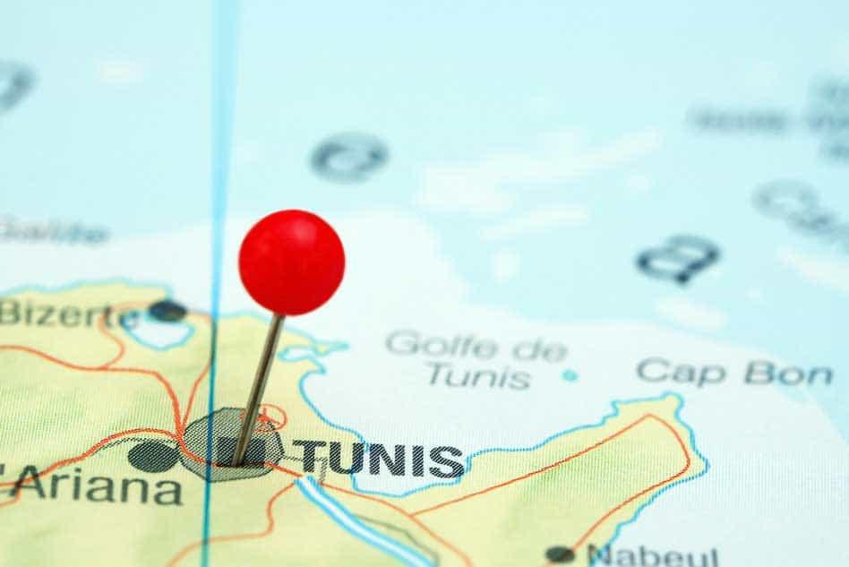 מפת טוניס
