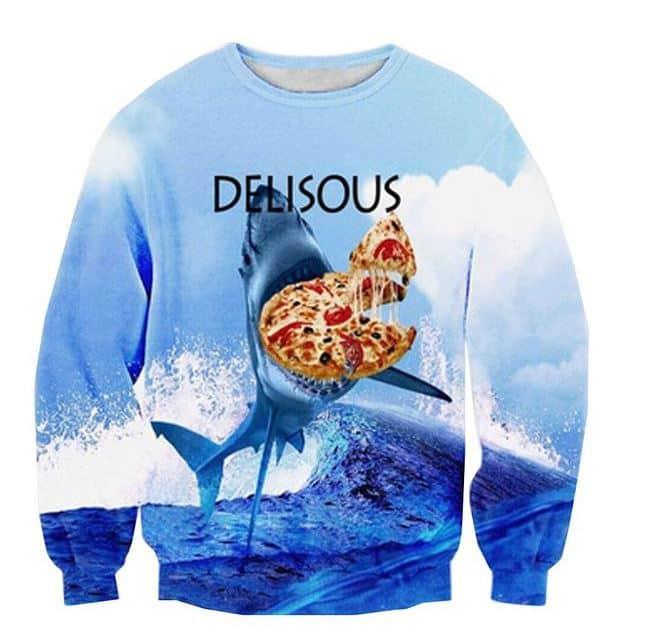 כריש אוכל פיצה