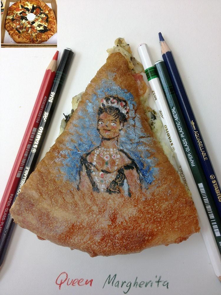 ציור על פיצה