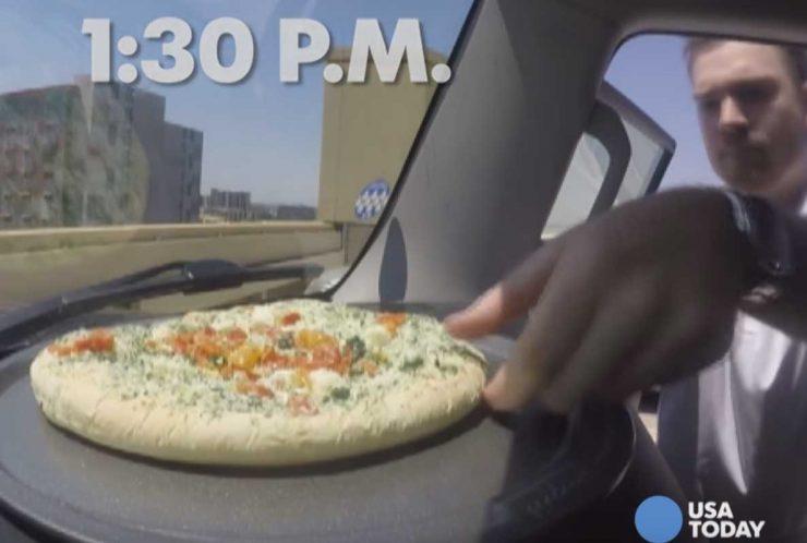 פיצה ברכב