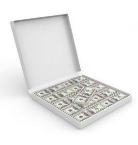 קרטון פיצה כסף
