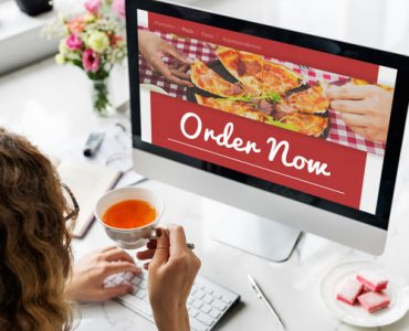 תמונת מסך של אתר פיצה