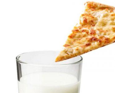 פיצה עם חלב